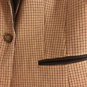 Halogen Jackets & Coats - Halogen Brown Plaid and Navy Blazer size Medium